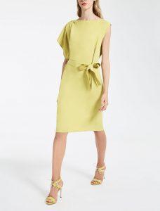 Max Mara abito giallo lime