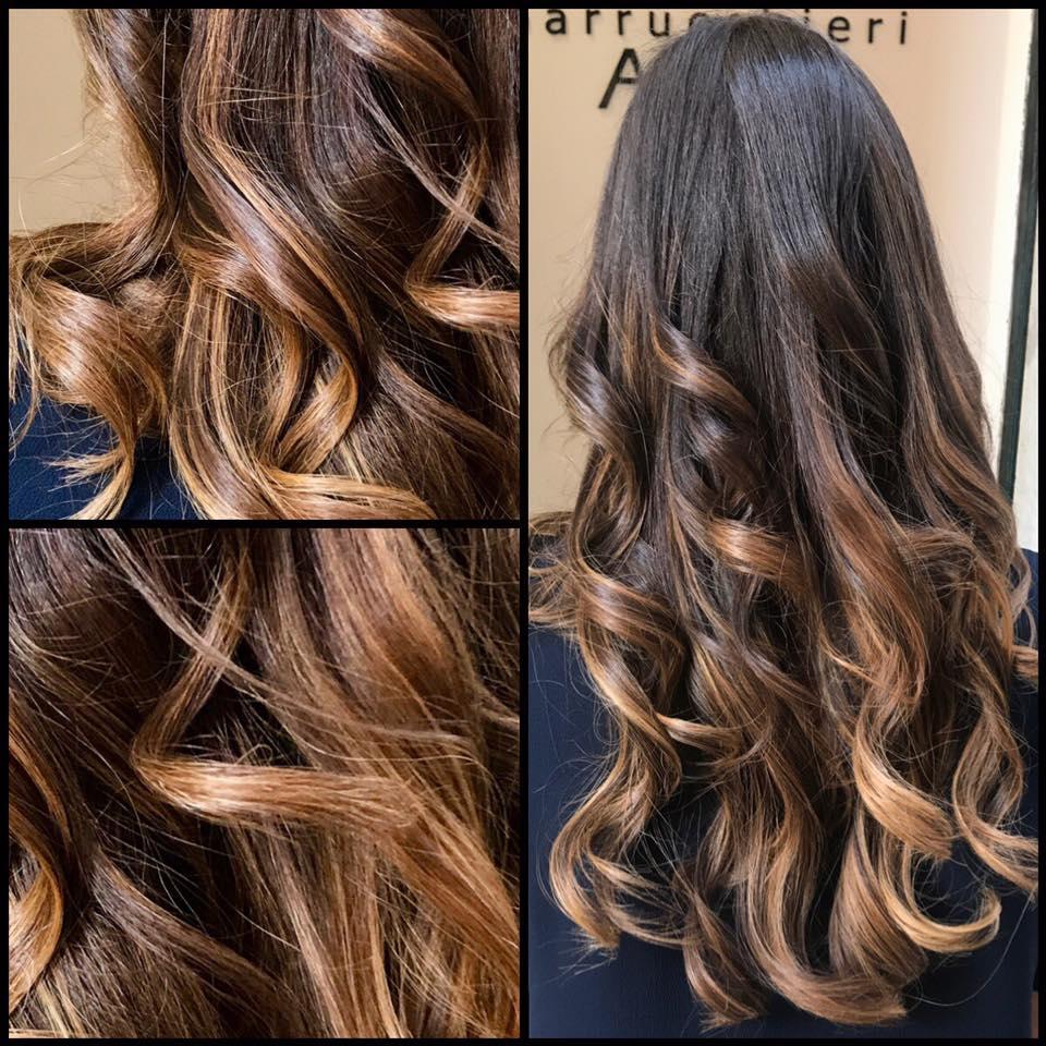 Degradé tendenza capelli look schiarire tonalizzare contouring
