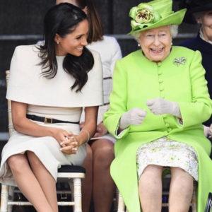 La Regina Elisabetta II con Megan